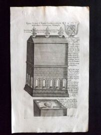 Dugdale 1718 Antique Print. Canterbury Cathedral, Kent